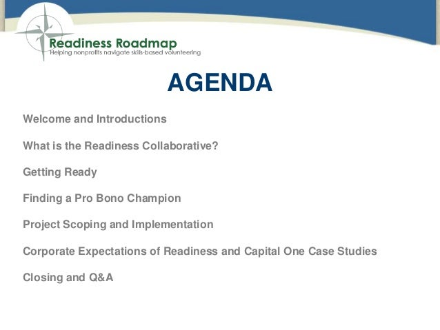Accessing the Power of Pro Bono Through the Readiness Roadmap  Slide 2