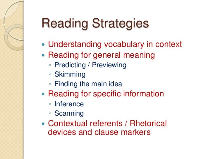 Reading: Comprehension, Strategies and Activities