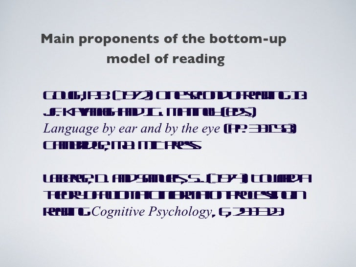 One second of reading a model by philip gough