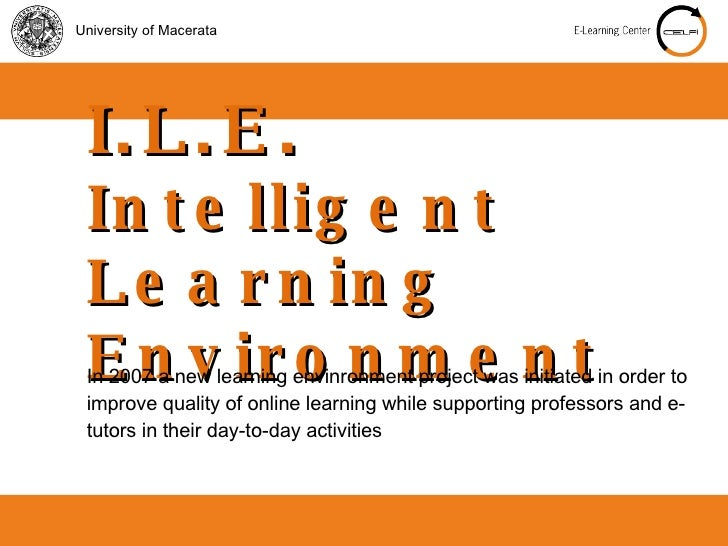 E Learning At Macerata University