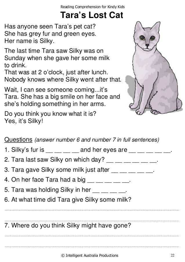 cat reading comprehension practice pdf