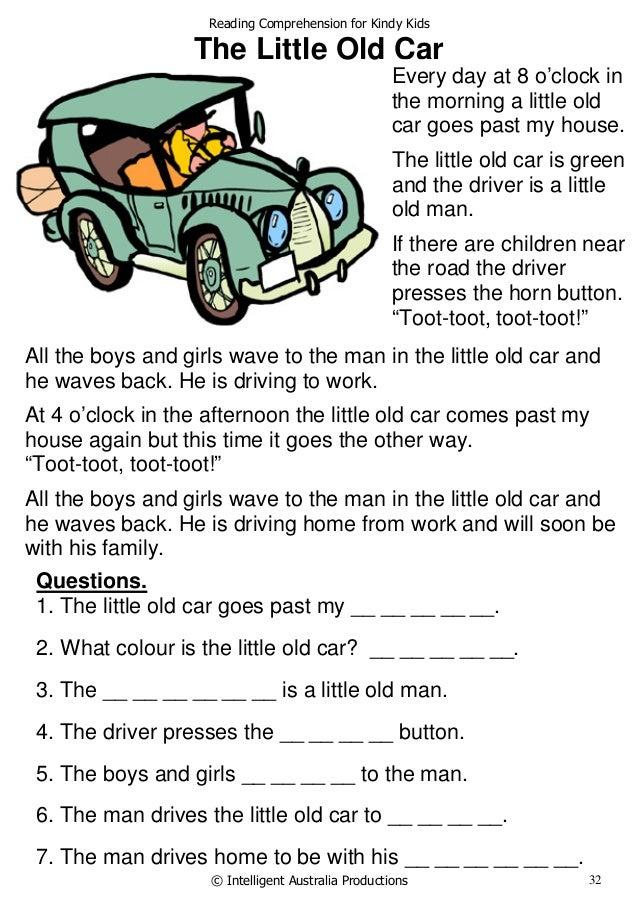 Reading Prehension For Kindy Kids