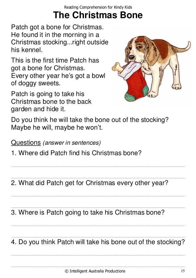 Homework for kindergarteners