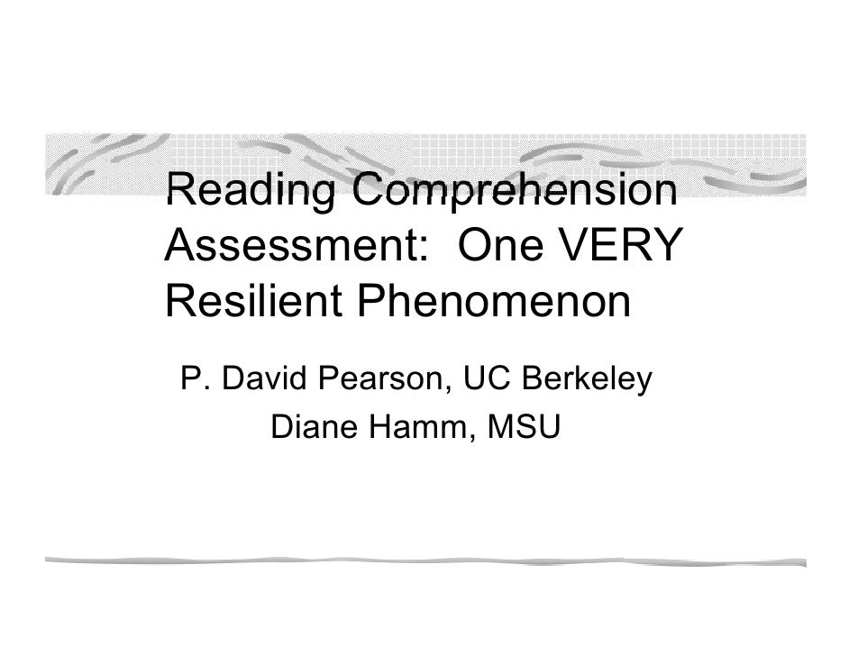 Reading Comprehension Pearson