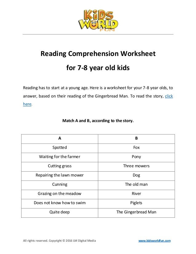 Reading comprehension-worksheet-for-7-8-years-old-kids