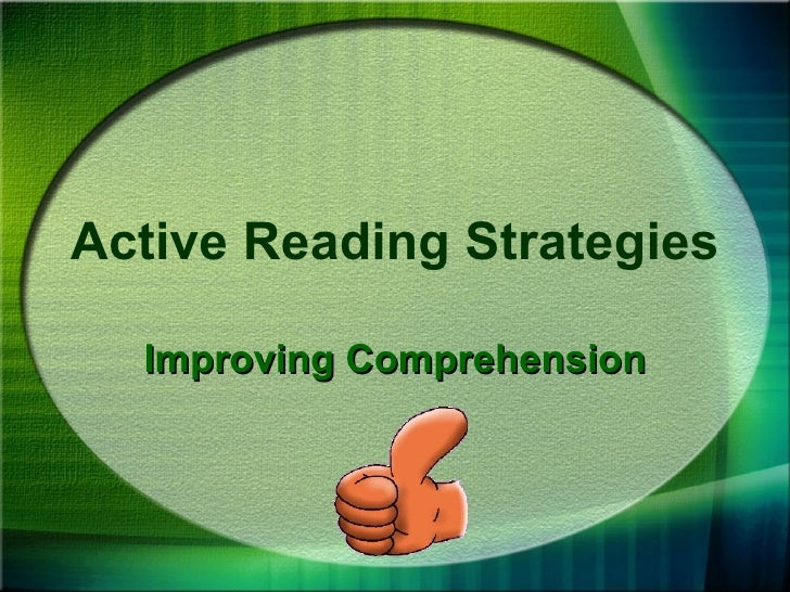 Active Reading Strategies Improving Comprehension