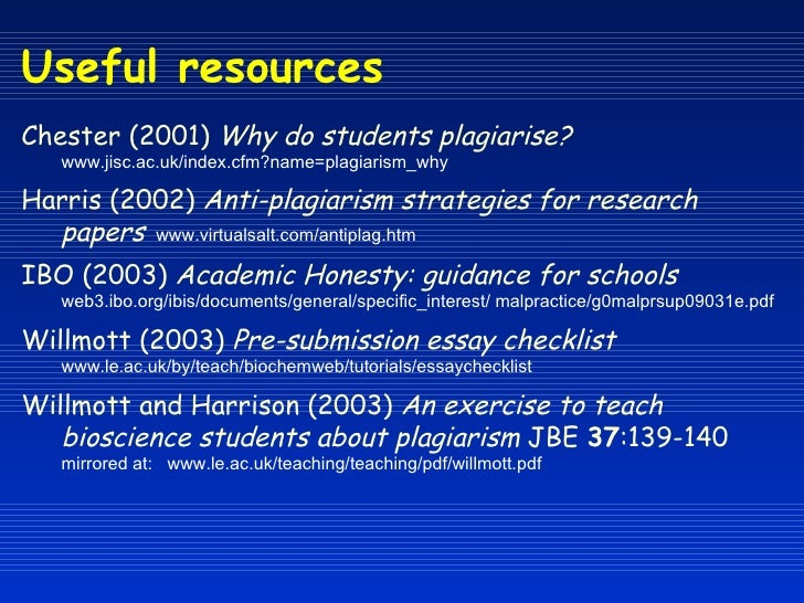 Anti plagiarism strategies for research papers