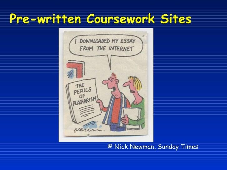 Plagiarism in coursework
