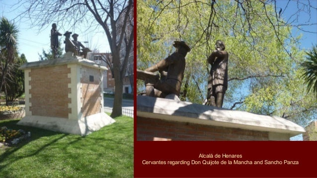 At the front entrance of the Cervantes Birthplace Museum, the charming life-size statue of Don Quixote and Sancho Panza