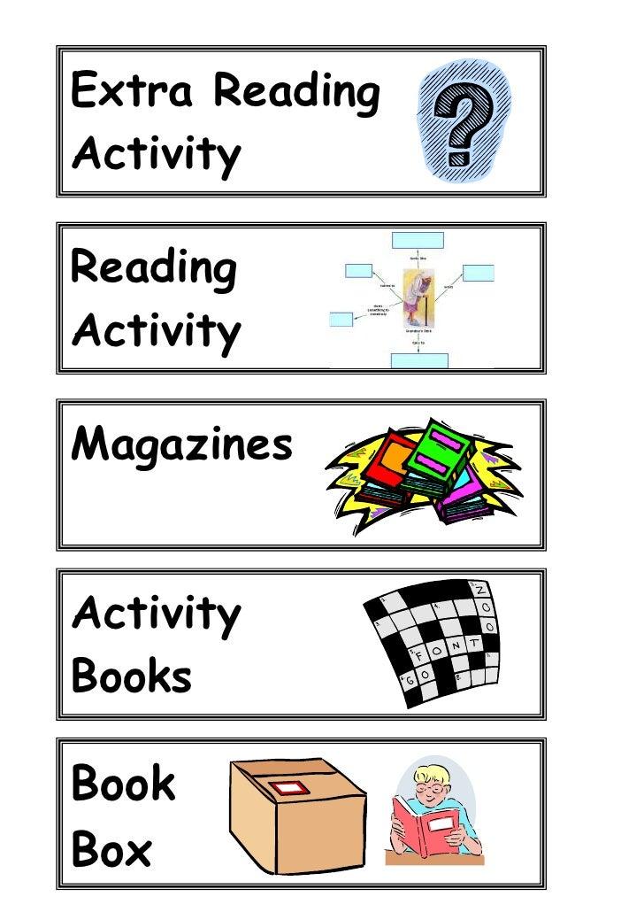 Extra Reading Activity  Reading Activity   Magazines  Activity Books  Book Box