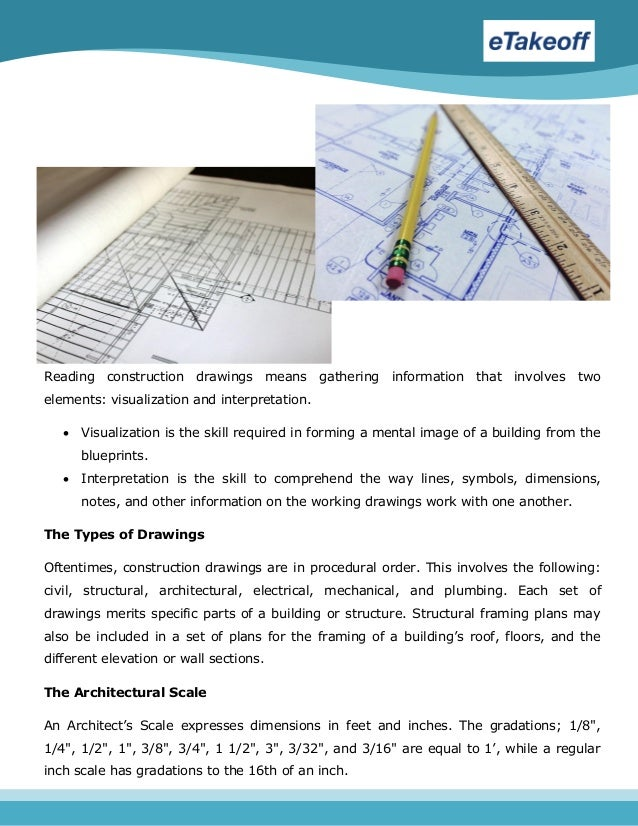Reading and interpreting construction blueprints for Reading framing blueprints