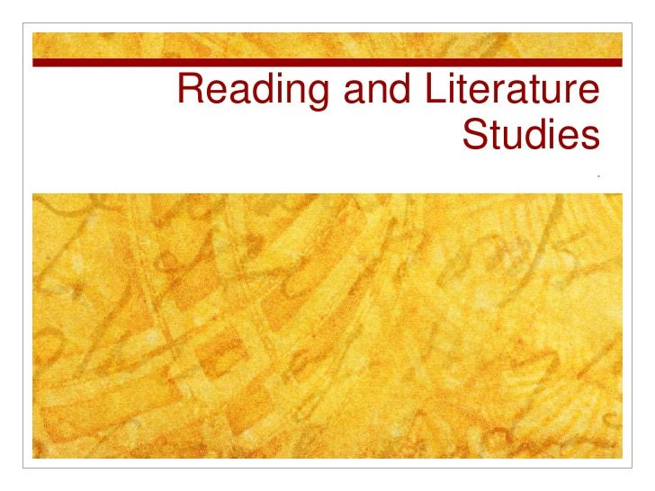 Reading and Literature Studies<br />.<br />