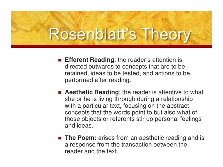 efferent and aesthetics ways of reading literary texts I was really pleased with just how much attention and detail students put into [their sketches] it's really fascinating and cool to see what they focus on, how they describe what they've drawn, and why they've drawn certain things.