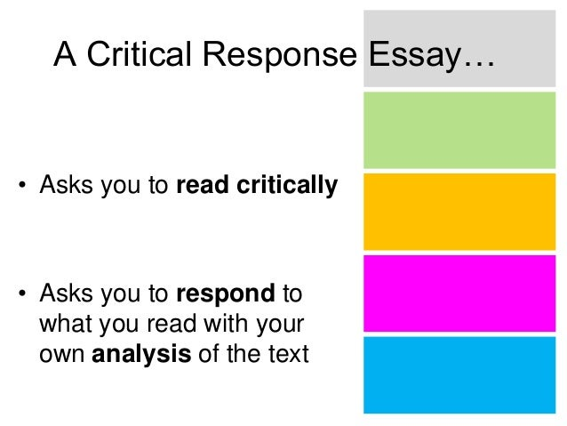 read and respond essay Knowing what to do with essay feedback can be tricky here are 10 common essay comments and how to address them.