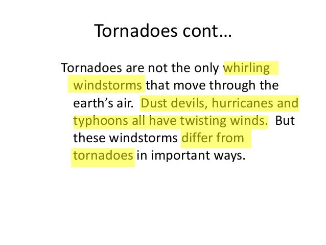 How to write your Research Paper on Tornadoes