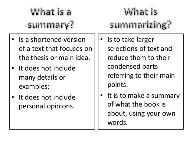 how to avoid summarizing in an essay