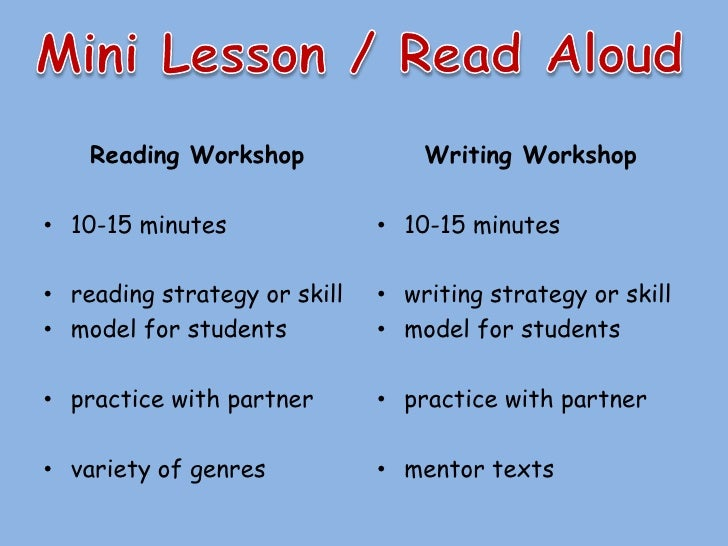 reading and writing workshop The tcrwp is happy to share many free resources for teachers, coaches and administrators we have provided videos that provide an orientation to the units of study series for reading and writing as well as videos that.