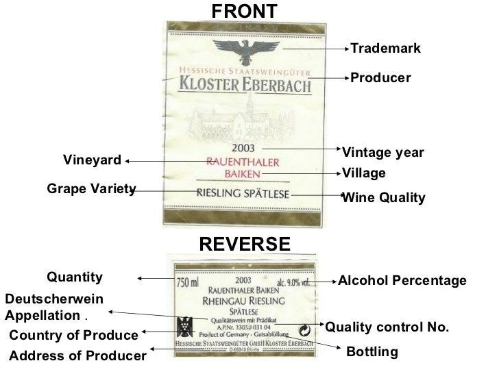 Wine Vintage Year