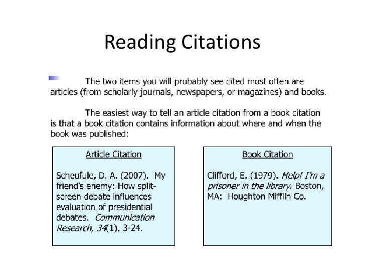 Reading Citations<br />