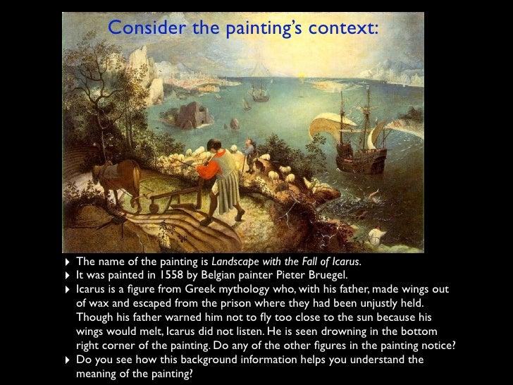 Breughel Icarus Analysis Essay - image 9