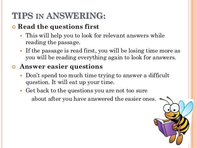 how to study for a reading comprehension test