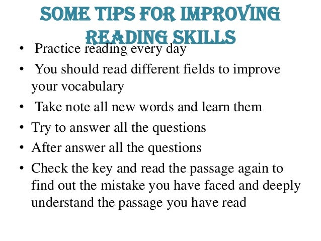 "technique to improve reding skills and A few tips for improving your sight reading skills things you can do immediately to improve your the unknown"", as we alexander technique teachers would."