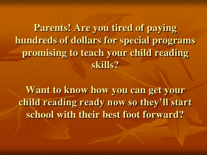 Parents! Are you tired of paying hundreds of dollars for your children to develop reading skills? Want to know how you can...