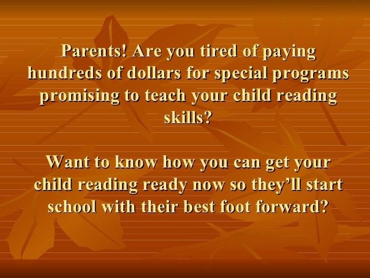 Parents! Are you tired of paying hundreds of dollars for special programs promising to teach your child reading skills? Wa...