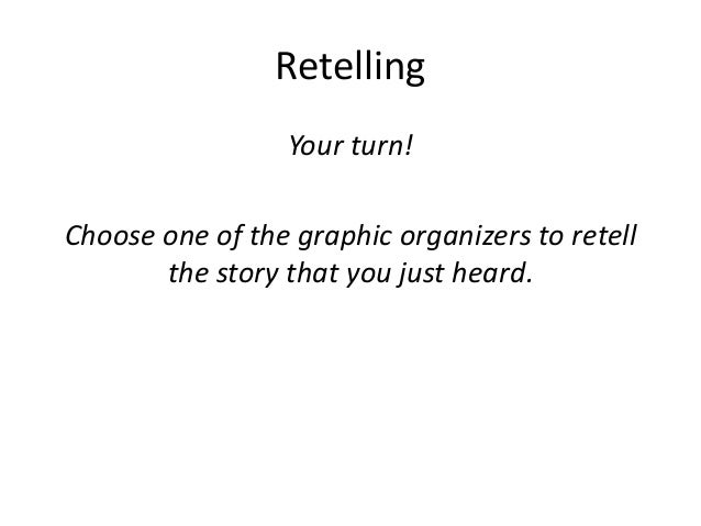 Retelling Your turn! Choose one of the graphic organizers to retell the story that you just heard.
