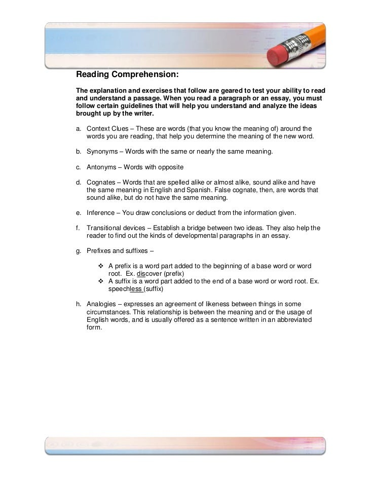 reading comprehension sequence of events  3 reading comprehension the