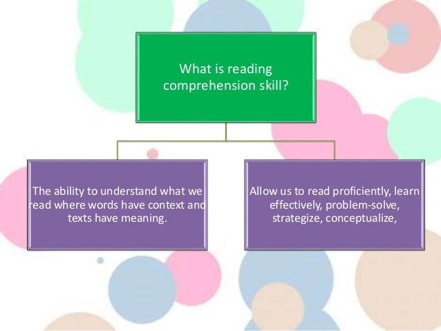 Reading comprehension skills ppt video online download.