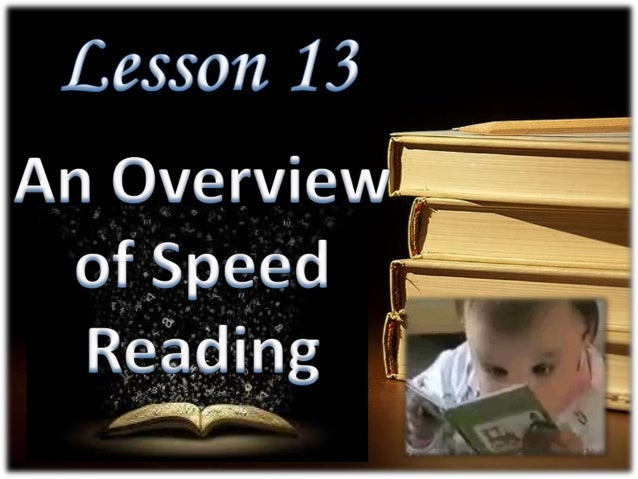 An Overview of speed reading Slide 3