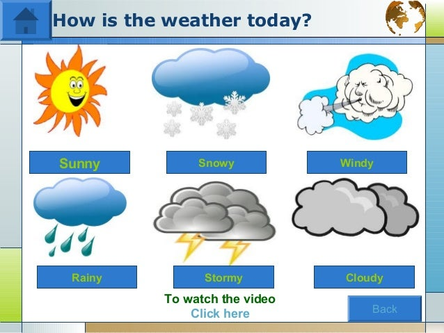 By the end of the lesson the studask and answer questions about what the weather is like.name the clothes needed to be wor...