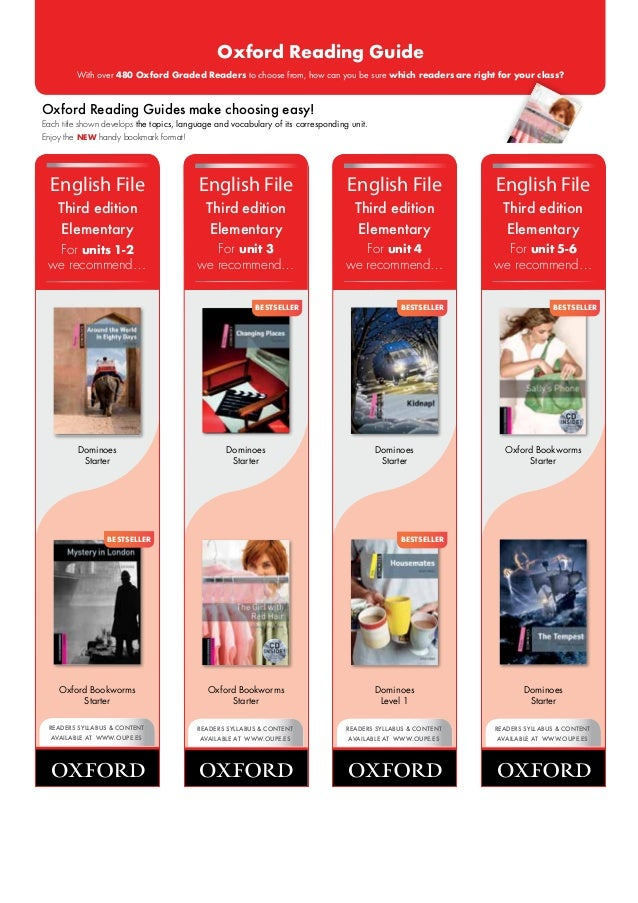 Oxford Reading Guide         With over 480 Oxford Graded Readers to choose from, how can you be sure which readers are rig...
