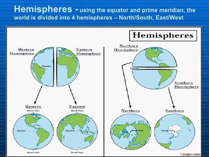 Reading interpreting maps notes hemispheres using the equator gumiabroncs Choice Image