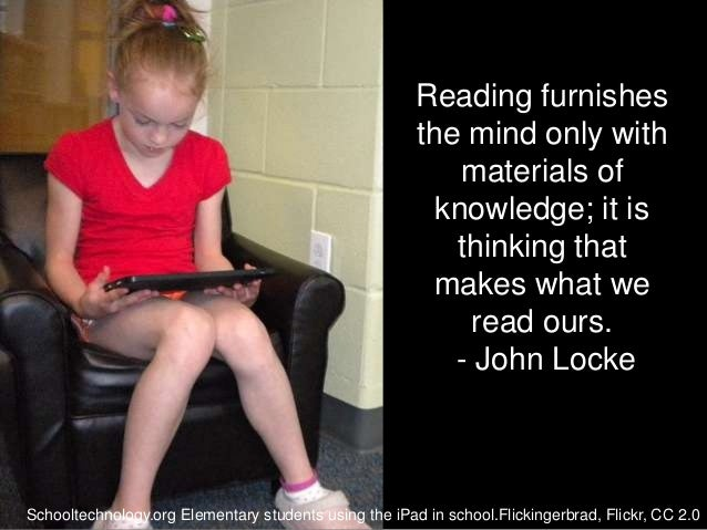 Reading furnishes                                                       the mind only with                                ...