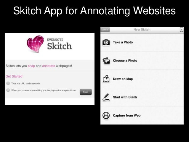 Skitch App for Annotating Websites