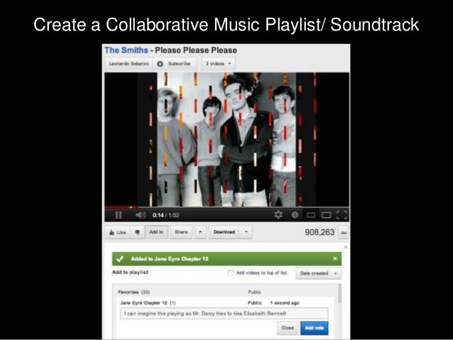 Create a Collaborative Music Playlist/ Soundtrack