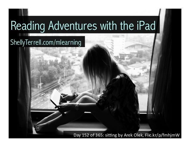Day	   152	   of	   365:	   si/ng	   by	   Arek	   Olek,	   Flic.kr/p/fmhjmW	    Reading Adventures with the iPad ShellyTe...