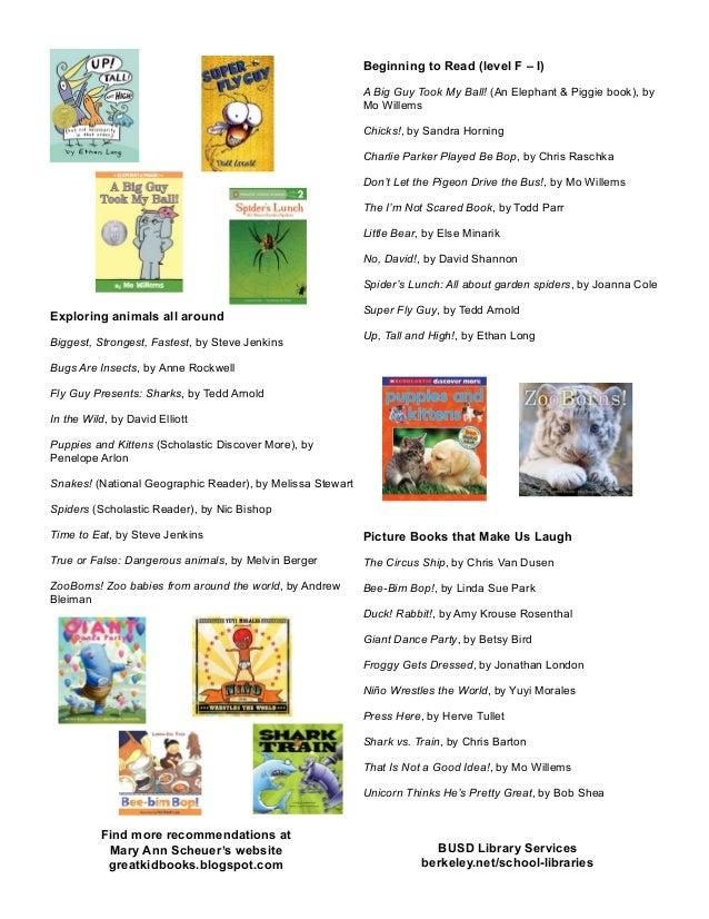 summer reading list kindergarten 2014 2 638 - Kindergarten Reading List
