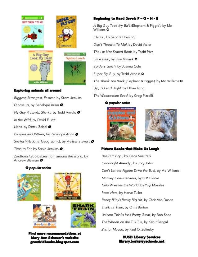 summer reading list kindergarten 2016 2 638 - Kindergarten Reading List
