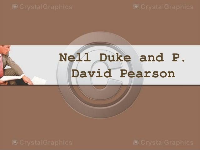 Nell Duke and P. David Pearson