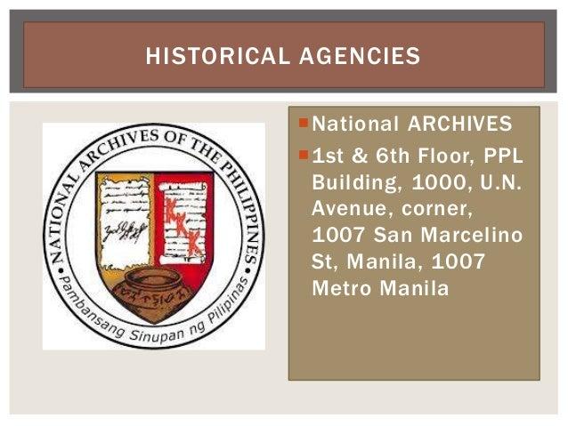 National ARCHIVES 1st & 6th Floor, PPL Building, 1000, U.N. Avenue, corner, 1007 San Marcelino St, Manila, 1007 Metro Ma...