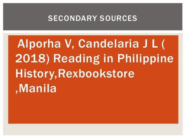 Introduction to Reading   in Philippine History