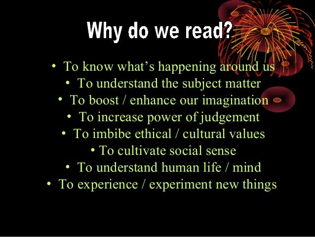 reading can increase our knowledge