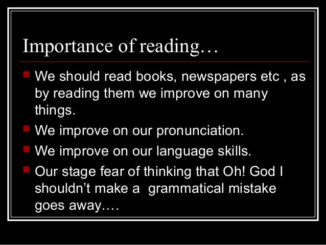 essays on the importance of reading books The importance of reading books essay people's opinions about the importance of books and reading this section shows the opinions witch were left by people on.