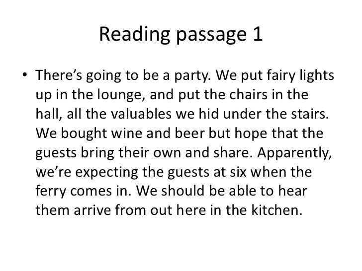 Reading passages 2