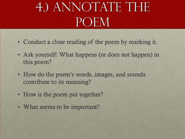 annotate a poem online dating