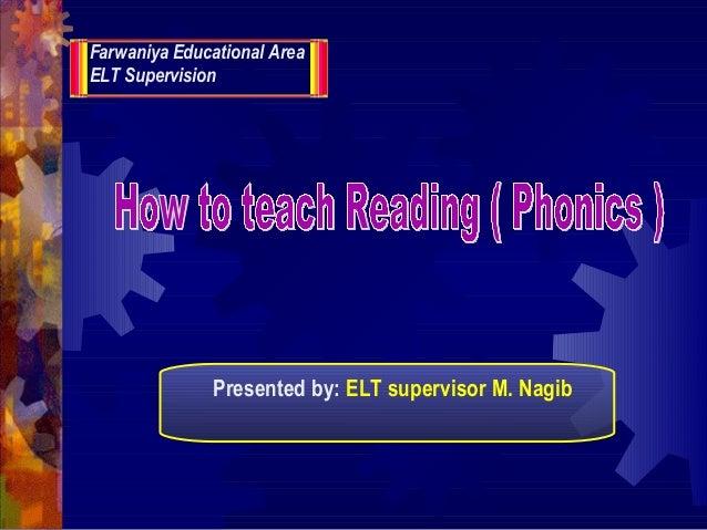 Farwaniya Educational Area ELT Supervision Presented by: ELT supervisor M. Nagib