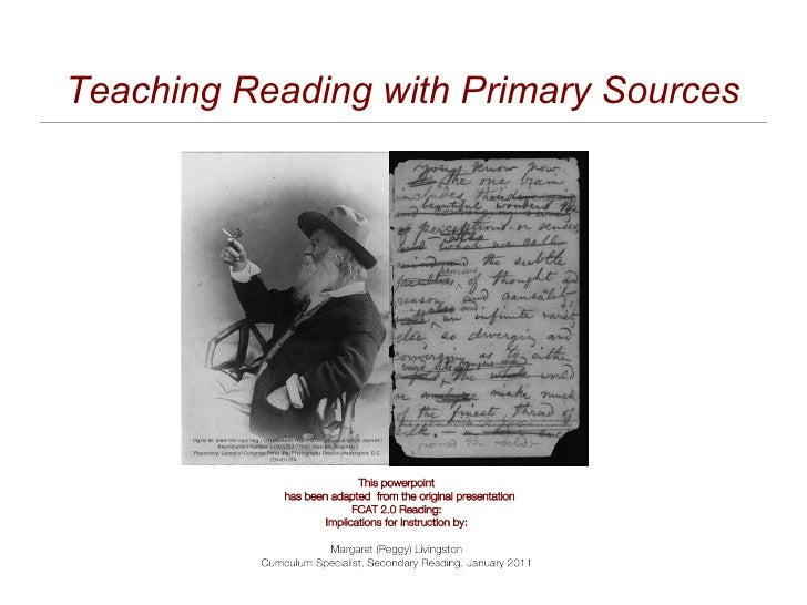 Teaching Reading with Primary Sources